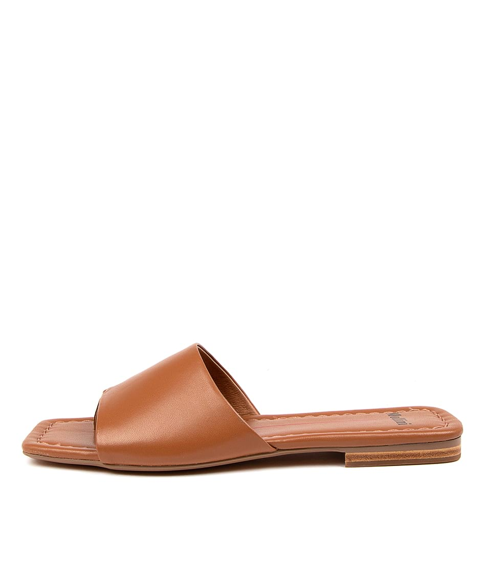 Buy Mollini Bondin Mo Deep Tan Flat Sandals online with free shipping