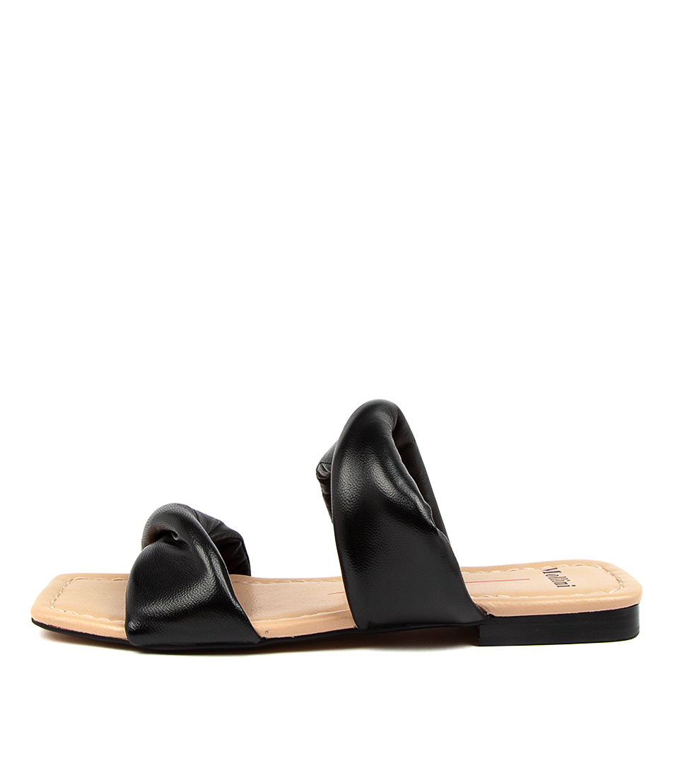 Buy Mollini Bandara Mo Black Flat Sandals online with free shipping