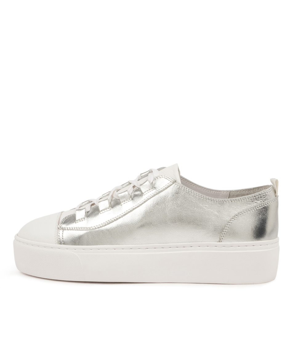 Buy Mollini Chipper Mo White Silver Sneakers online with free shipping