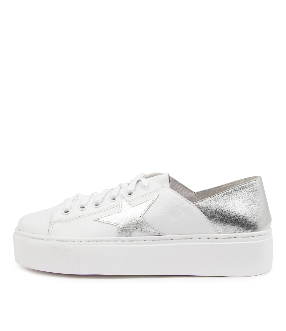 Buy Mollini Caliday Mo White Silver Sneakers online with free shipping