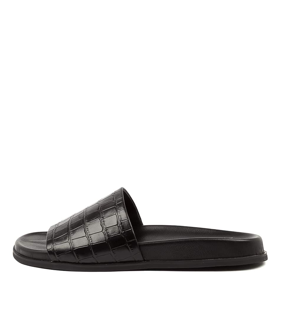 Buy Mollini Hoath Mo Black Flat Sandals online with free shipping