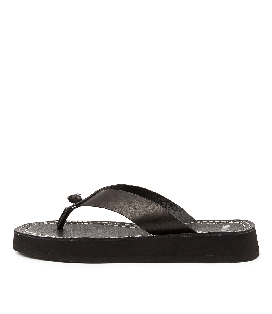 Buy Mollini Roona Mo Black Flat Sandals online with free shipping