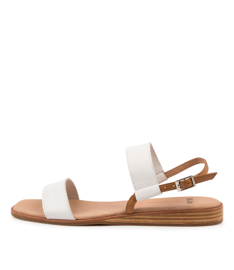 Buy Mollini Tautam Mo White Dk Tan Heeled Sandals online with free shipping