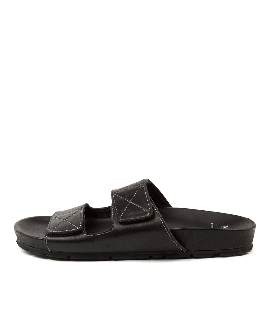 Buy Mollini Ruby Slide Mo Black Flat Sandals online with free shipping