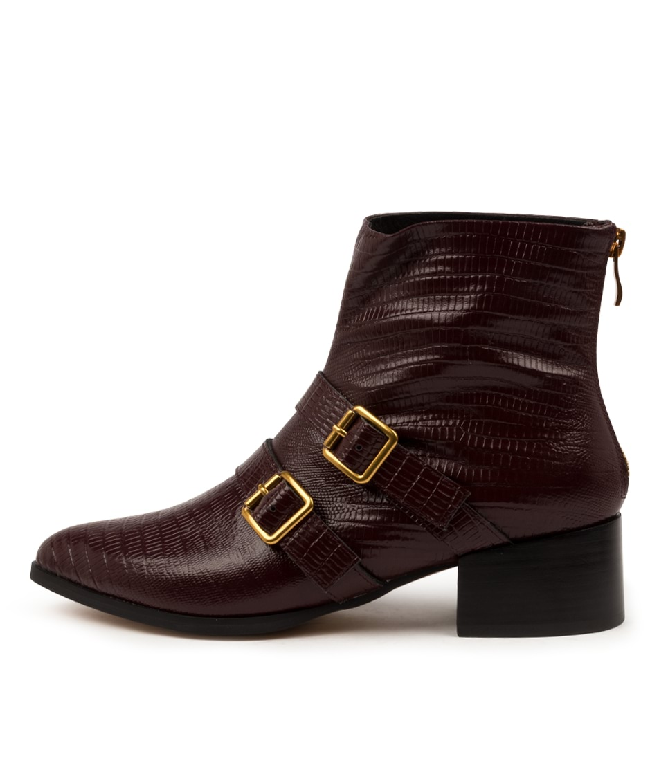 Buy Mollini Dreema Mo Burgundy Ankle Boots online with free shipping