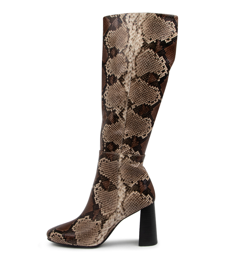 Buy Mollini Isco Mo Brown Mix Calf Boots online with free shipping