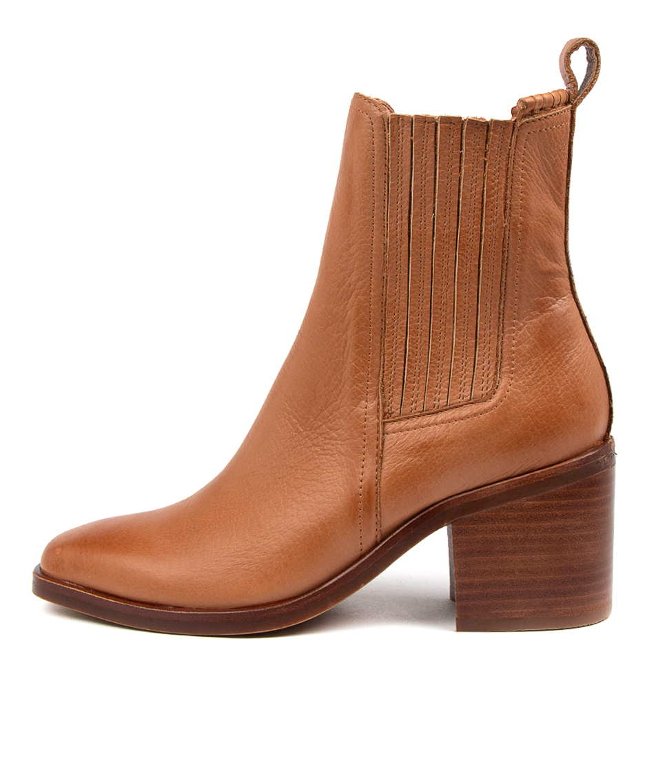 Buy Mollini Naydo Mo Tan Brown Heel Ankle Boots online with free shipping