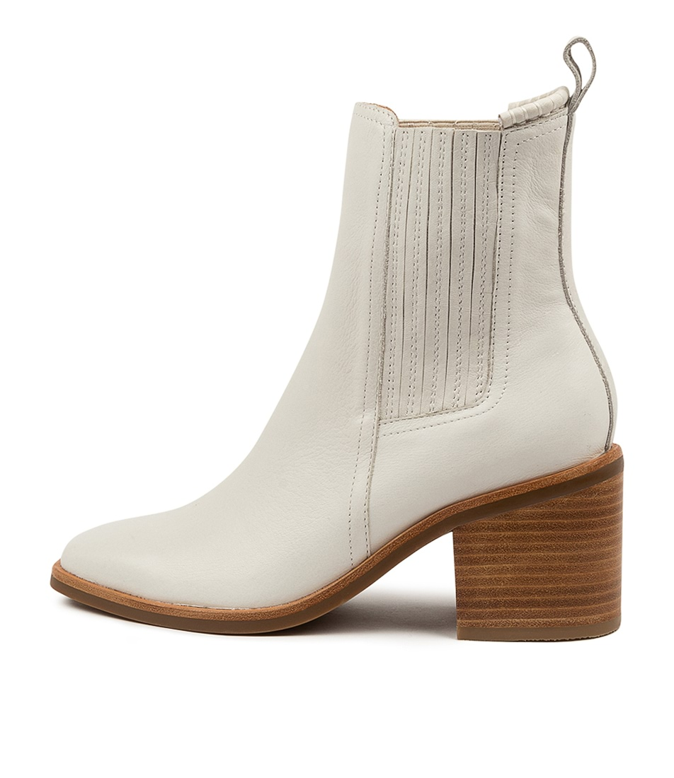 Buy Mollini Naydo Mo Winter White Natural Heel Ankle Boots online with free shipping