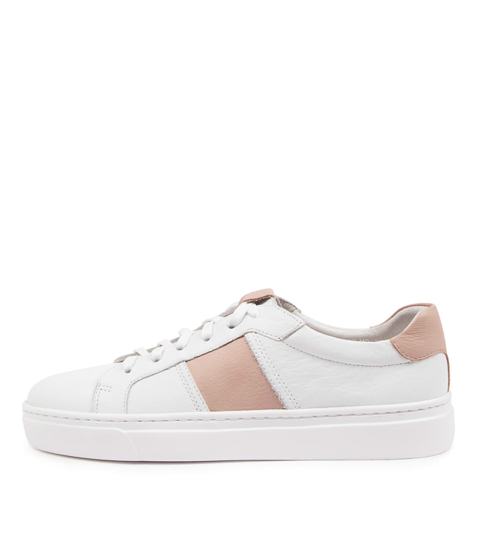 Buy Mollini Onstripe Mo White Warm Rose Sneakers online with free shipping