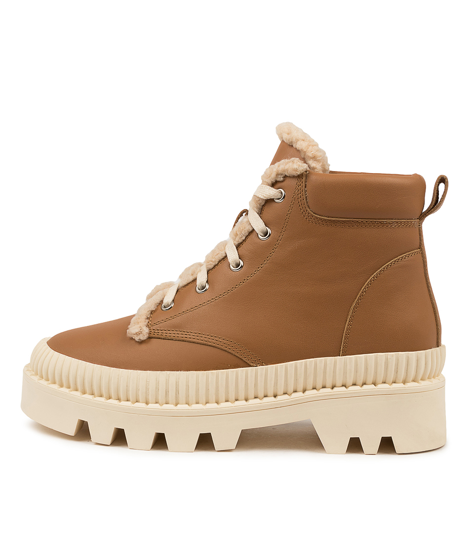 Buy Mollini Peato Mo Dk Tan White Sole Ankle Boots online with free shipping