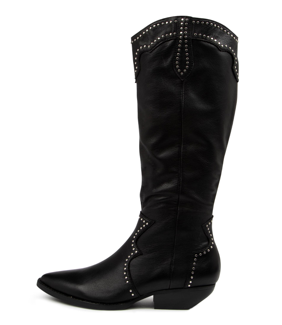 Buy Mollini Pella Mo Black Heel Long Boots online with free shipping