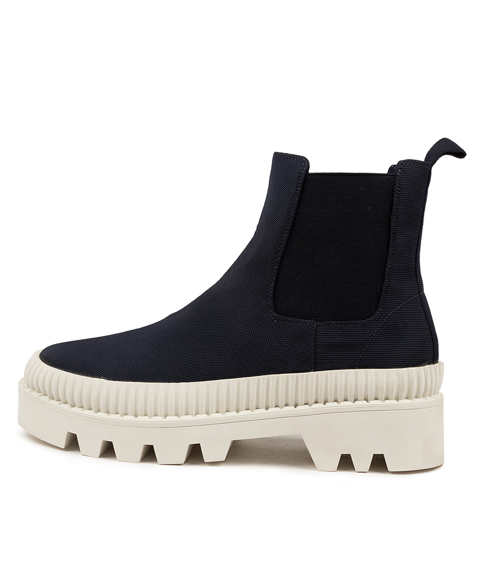 Buy Mollini Piah Mo Navy White Sole Ankle Boots online with free shipping