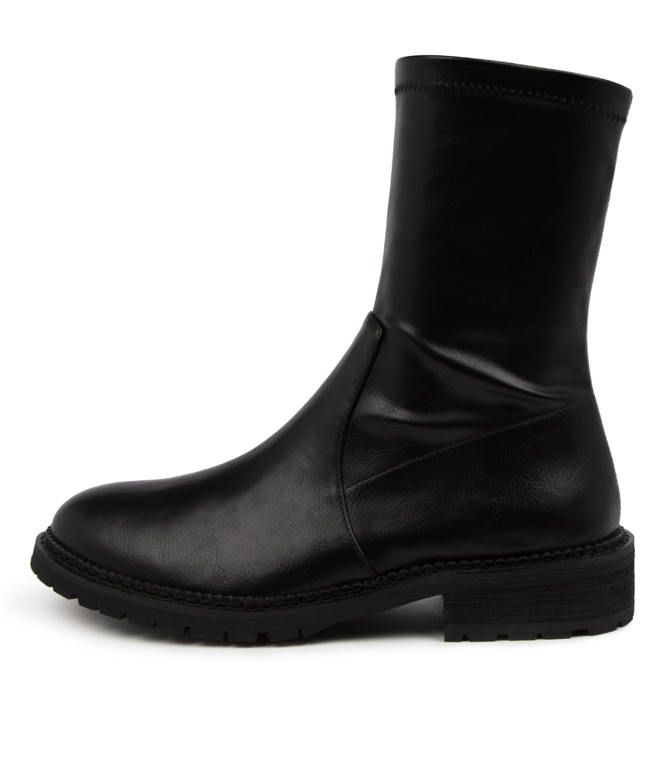 Buy Mollini Royalty Mo Black Heel Ankle Boots online with free shipping