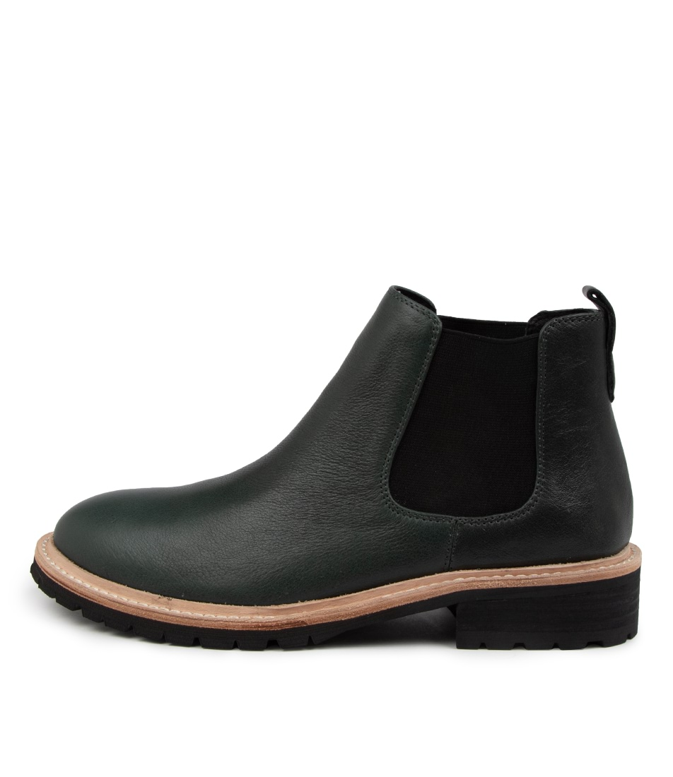 Buy Mollini Rume Mo Forest Black Sole Ankle Boots online with free shipping