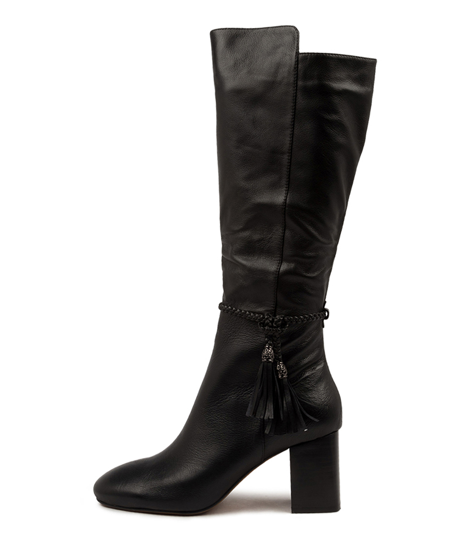 Buy Mollini Spesh Mo Black Heel Long Boots online with free shipping
