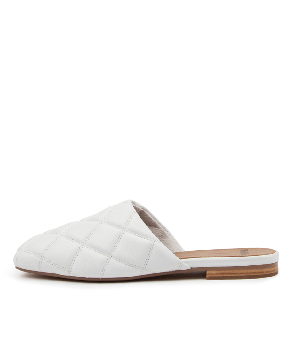 Buy Mollini Taiger Mo White Flats online with free shipping