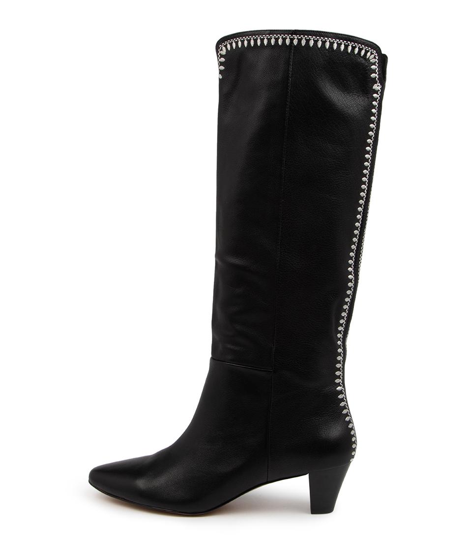 Buy Mollini Treasha Mo Black Calf Boots online with free shipping