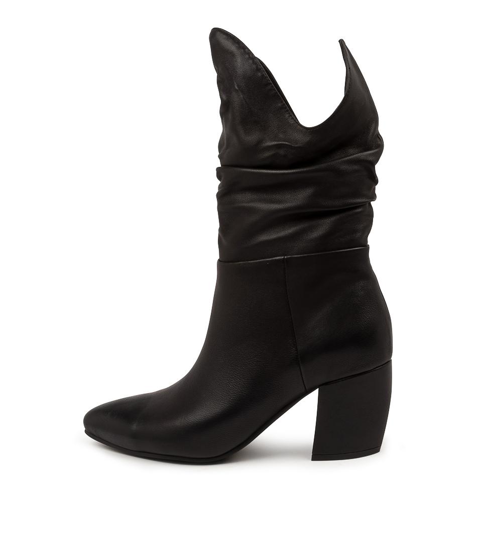 Buy Mollini Uyoke Mo Black Calf Boots online with free shipping
