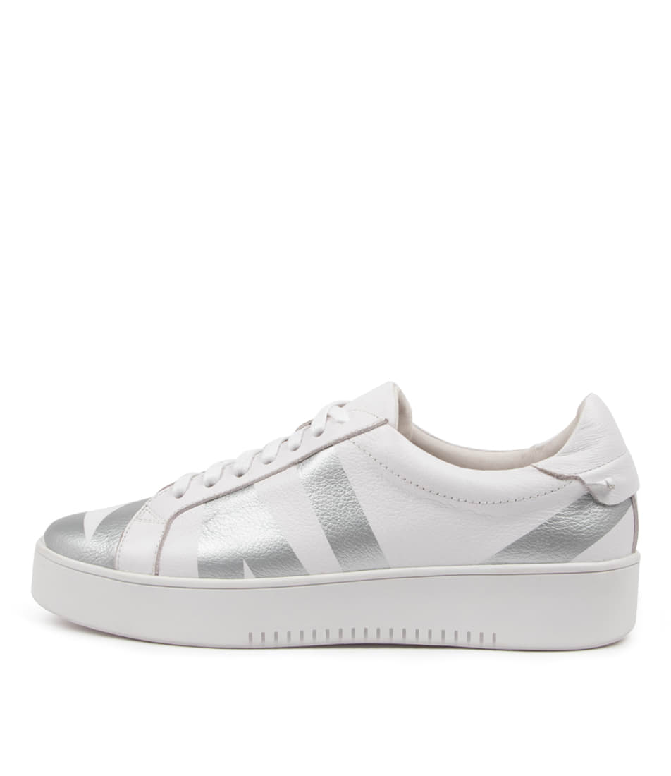 Buy Mollini Lenny Tomo White Silver Sneakers online with free shipping