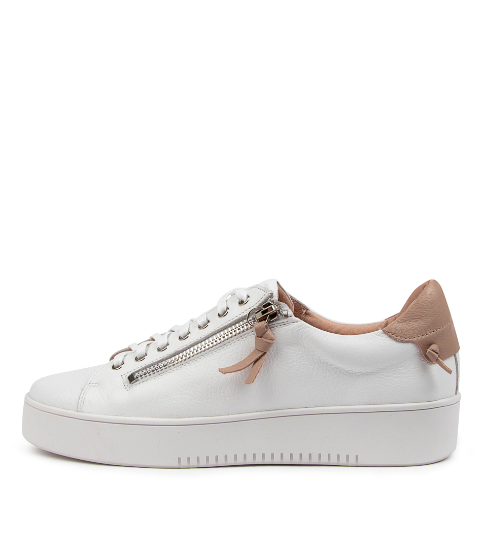 Buy Mollini Lizzy Tomo White Rose Sneakers online with free shipping