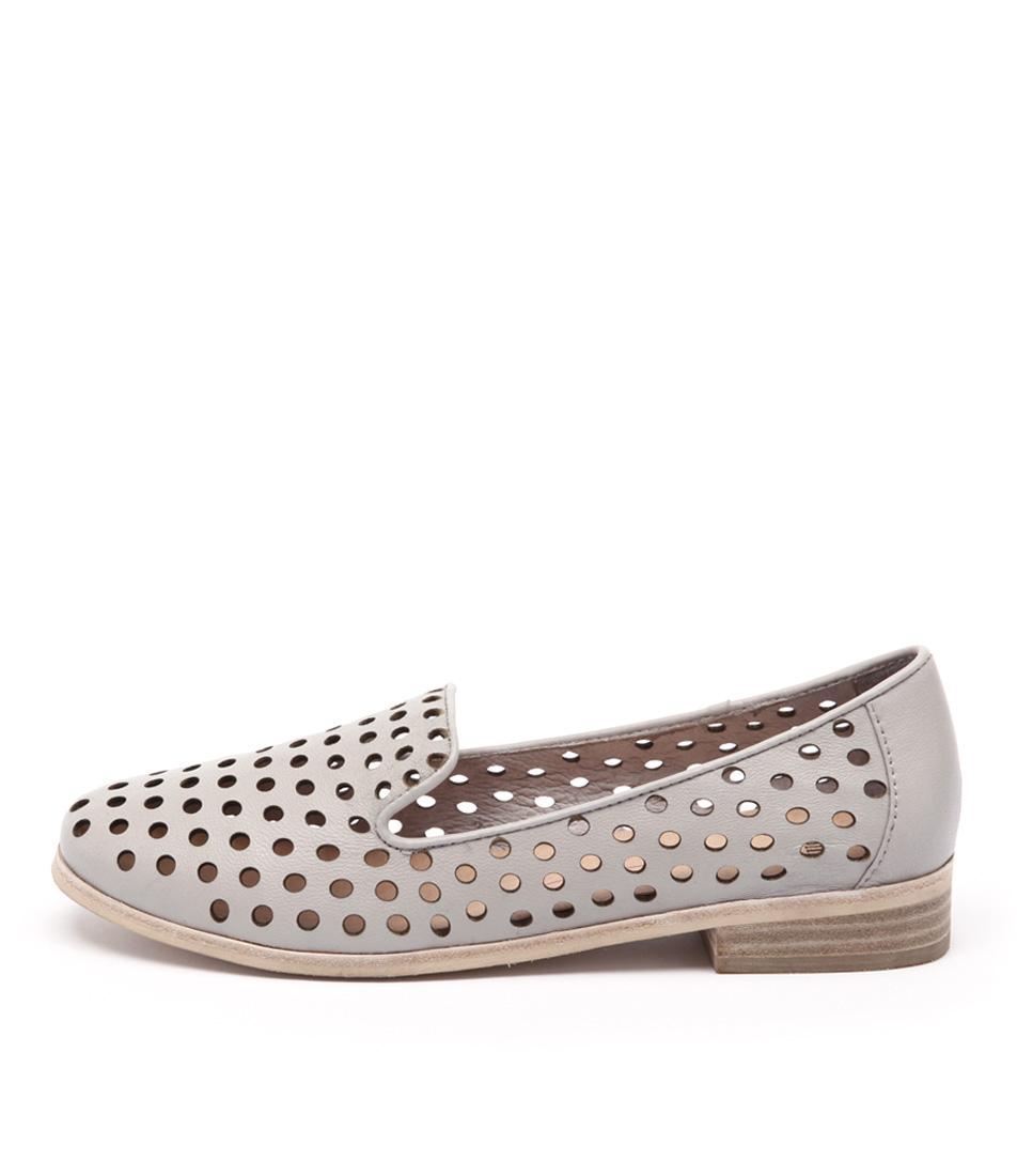 Mollini Queff Light Grey Casual Flat Shoes