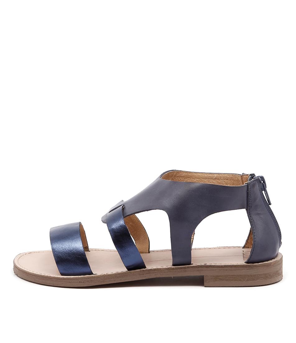 Mollini Zukas Navy Metallic Navy Sandals