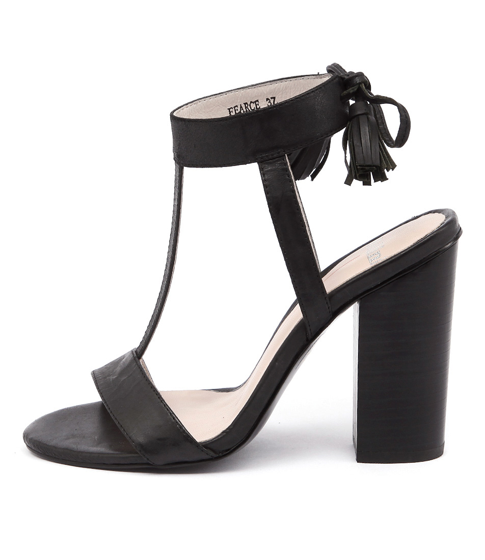 Mollini Fearce Black Casual Heeled Sandals