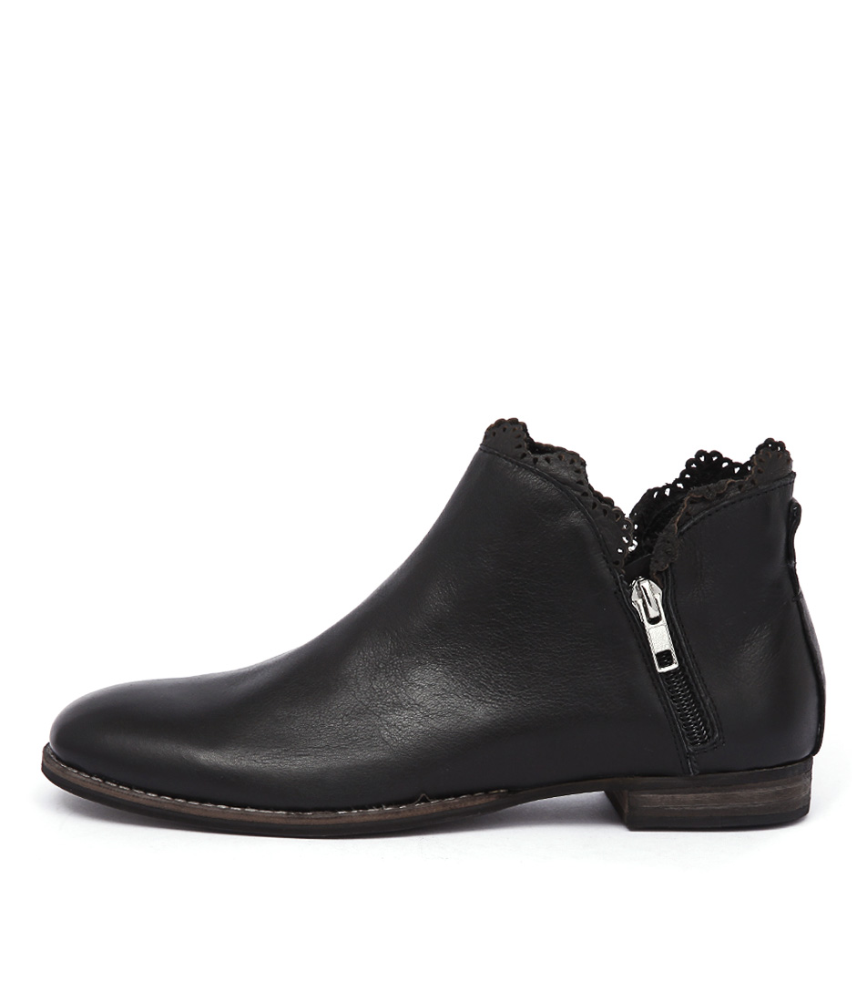 Mollini Whirl Black Casual Ankle Boots