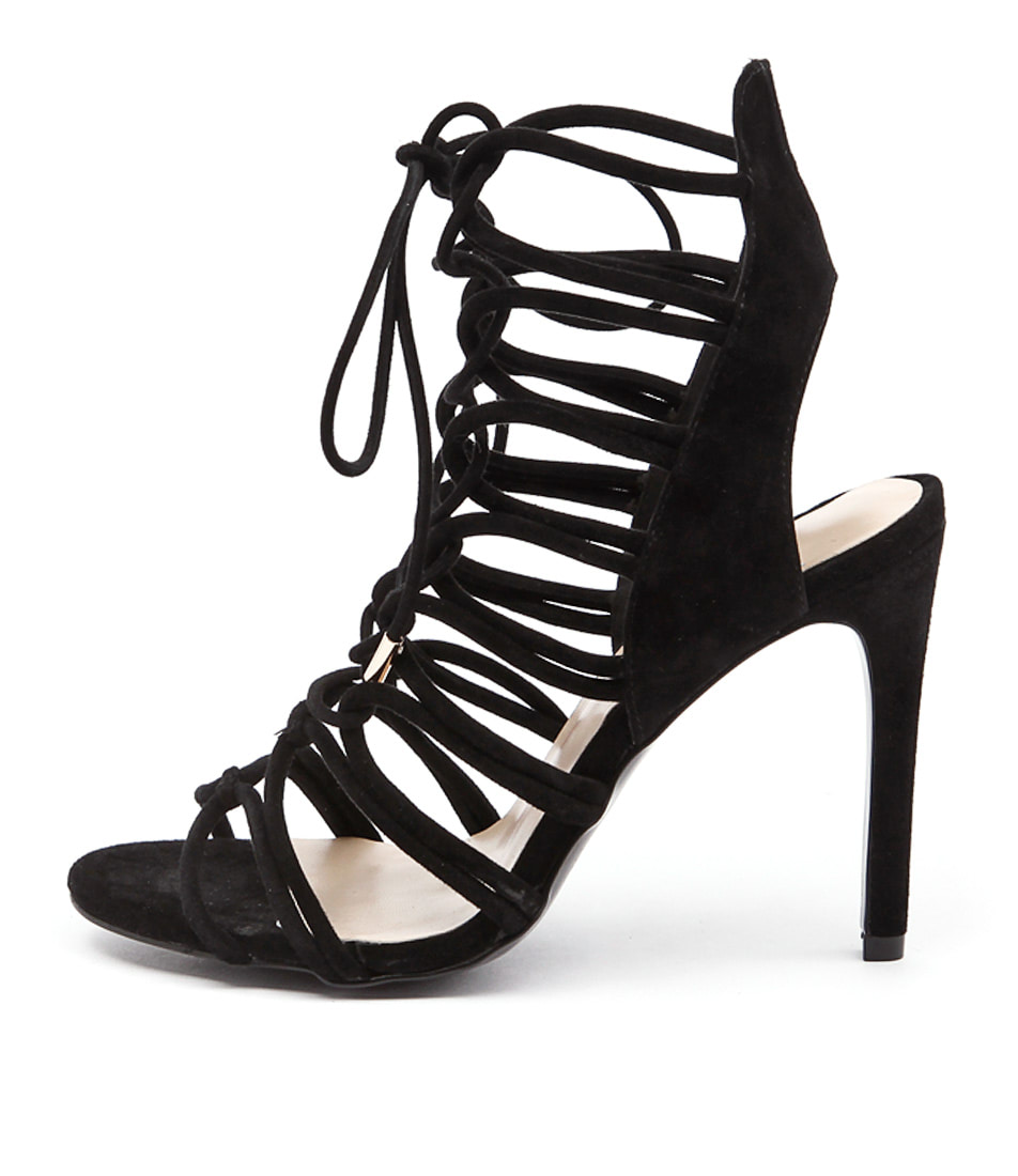 Mollini Lilly Black Dress Heeled Sandals