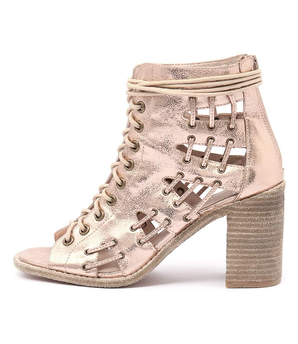 Mollini Jayman Rose Gold Casual Heeled Sandals