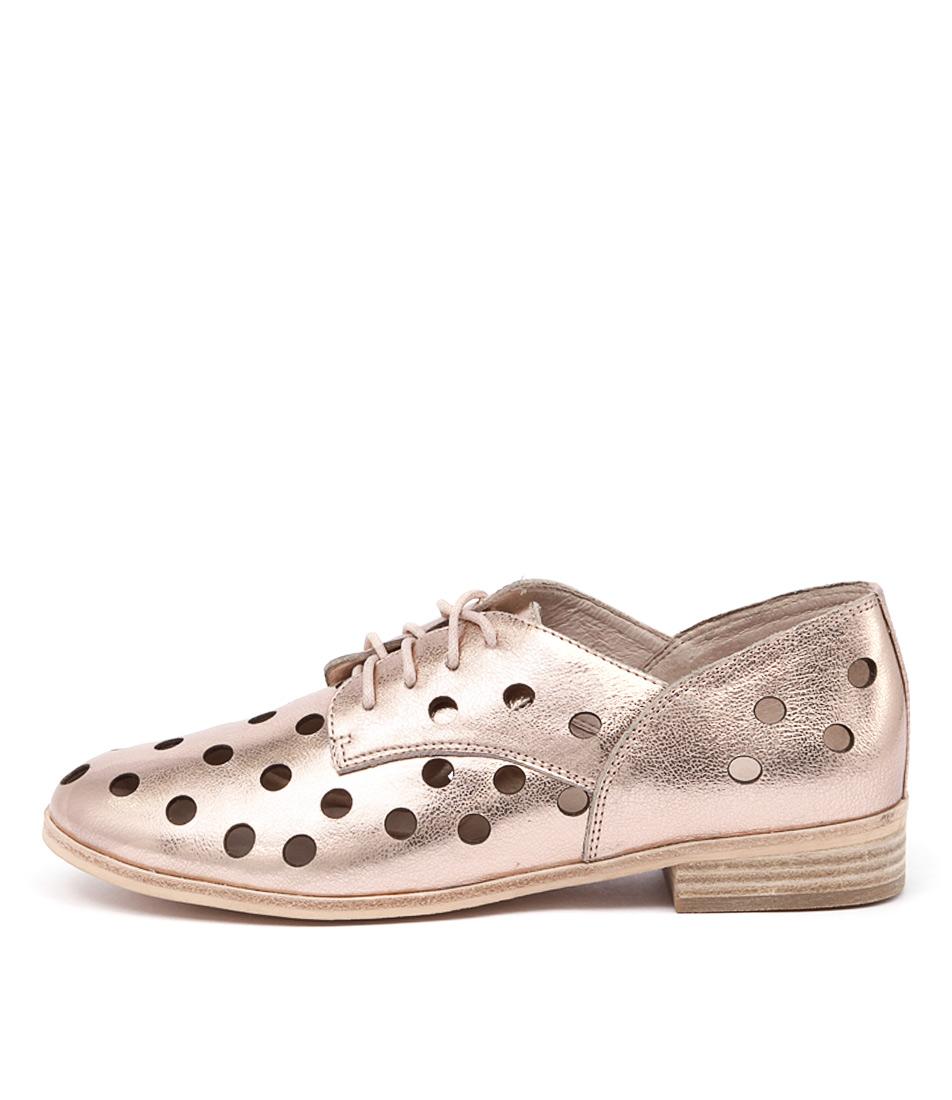 Mollini Quartet Rose Gold Metallic Casual Flat Shoes