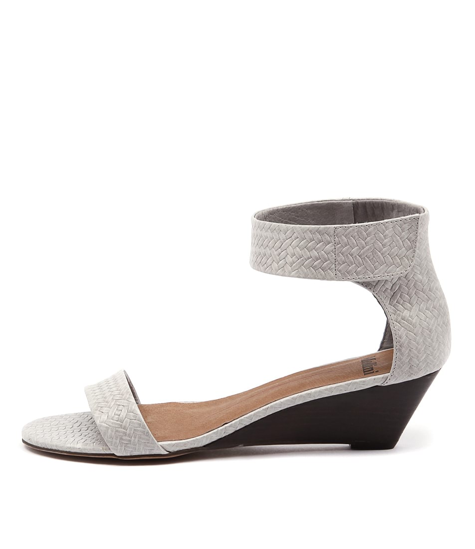 Mollini Muscles Grey Heeled Sandals