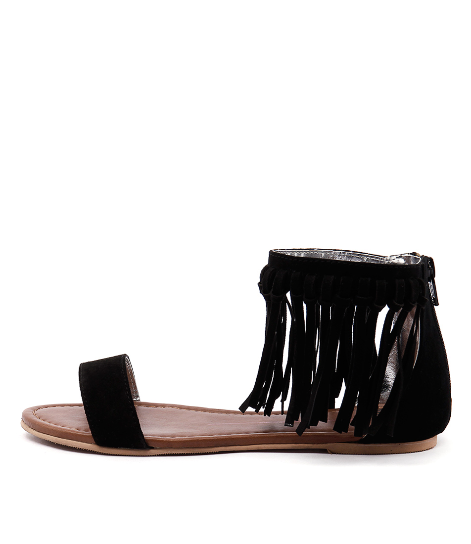 Mollini Seth Mo Black Casual Flat Sandals