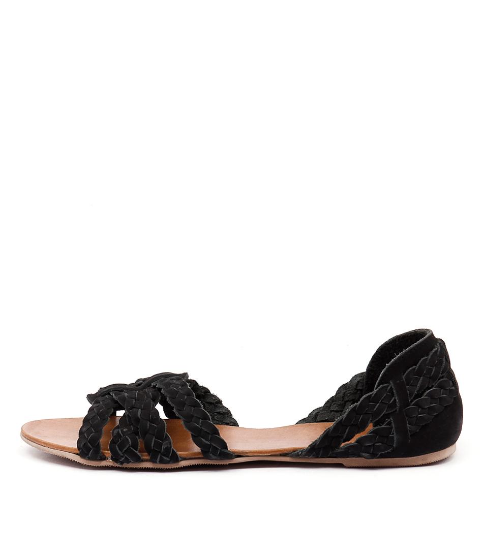 Mollini Shawn Black Casual Flat Sandals