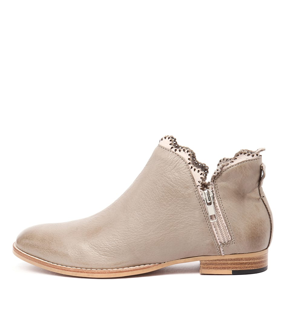 Mollini Whirl Taupe Pale Pink Casual Ankle Boots