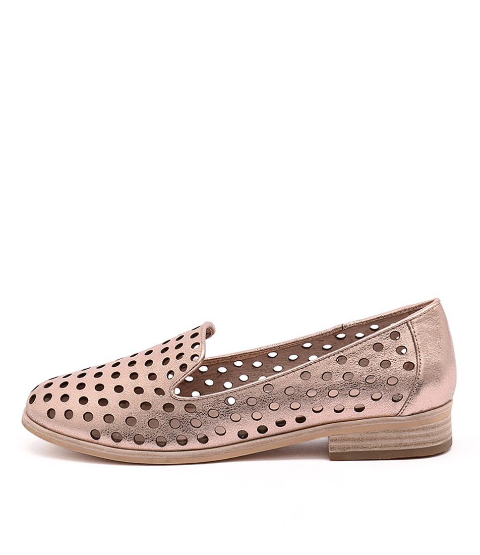 Buy Mollini Queff Rose Gold Metallic Flats online with free shipping