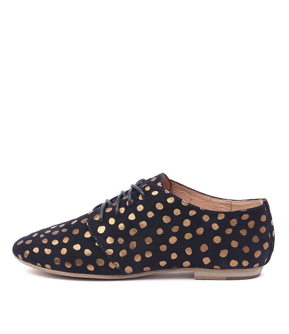 Mollini Lawley Navy Bronze Spot Shoes