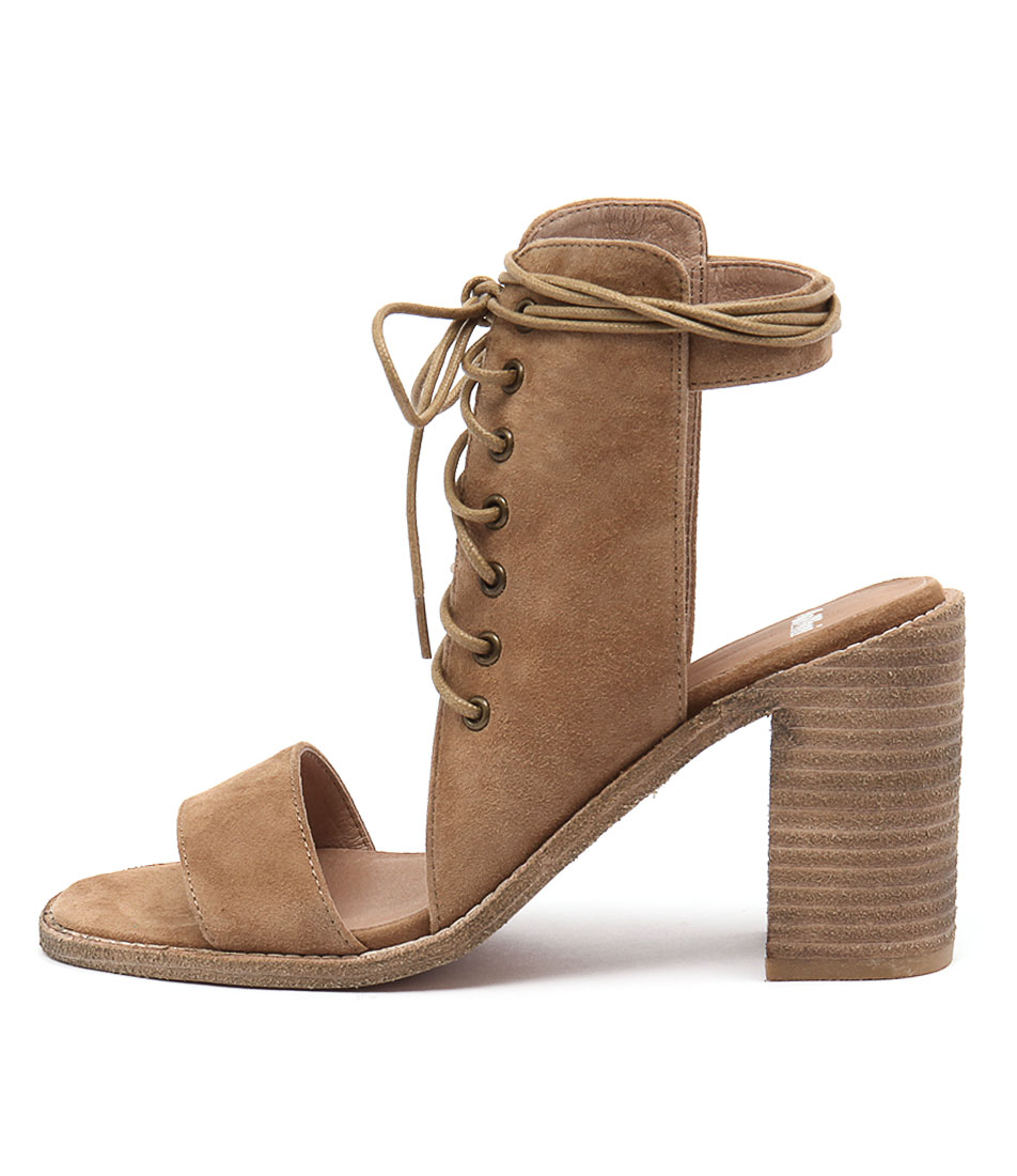 Mollini Jeloy Tan Casual Heeled Sandals