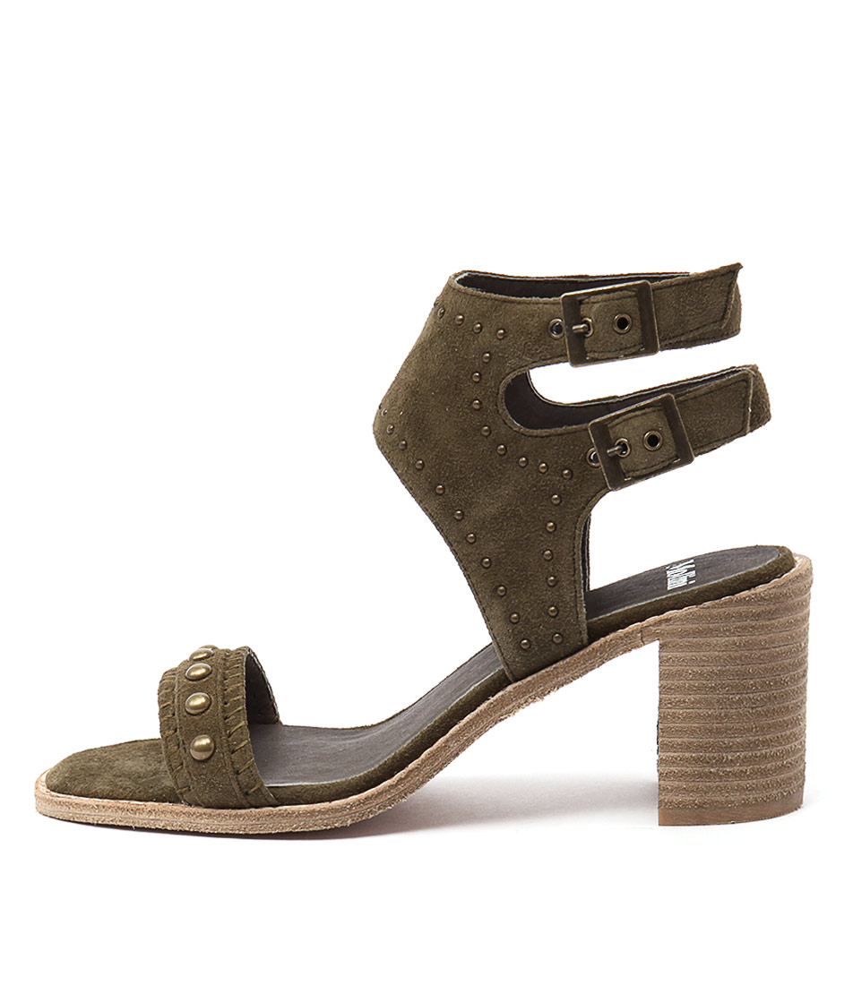 Buy Mollini Deedee Khaki Heeled Sandals online with free shipping