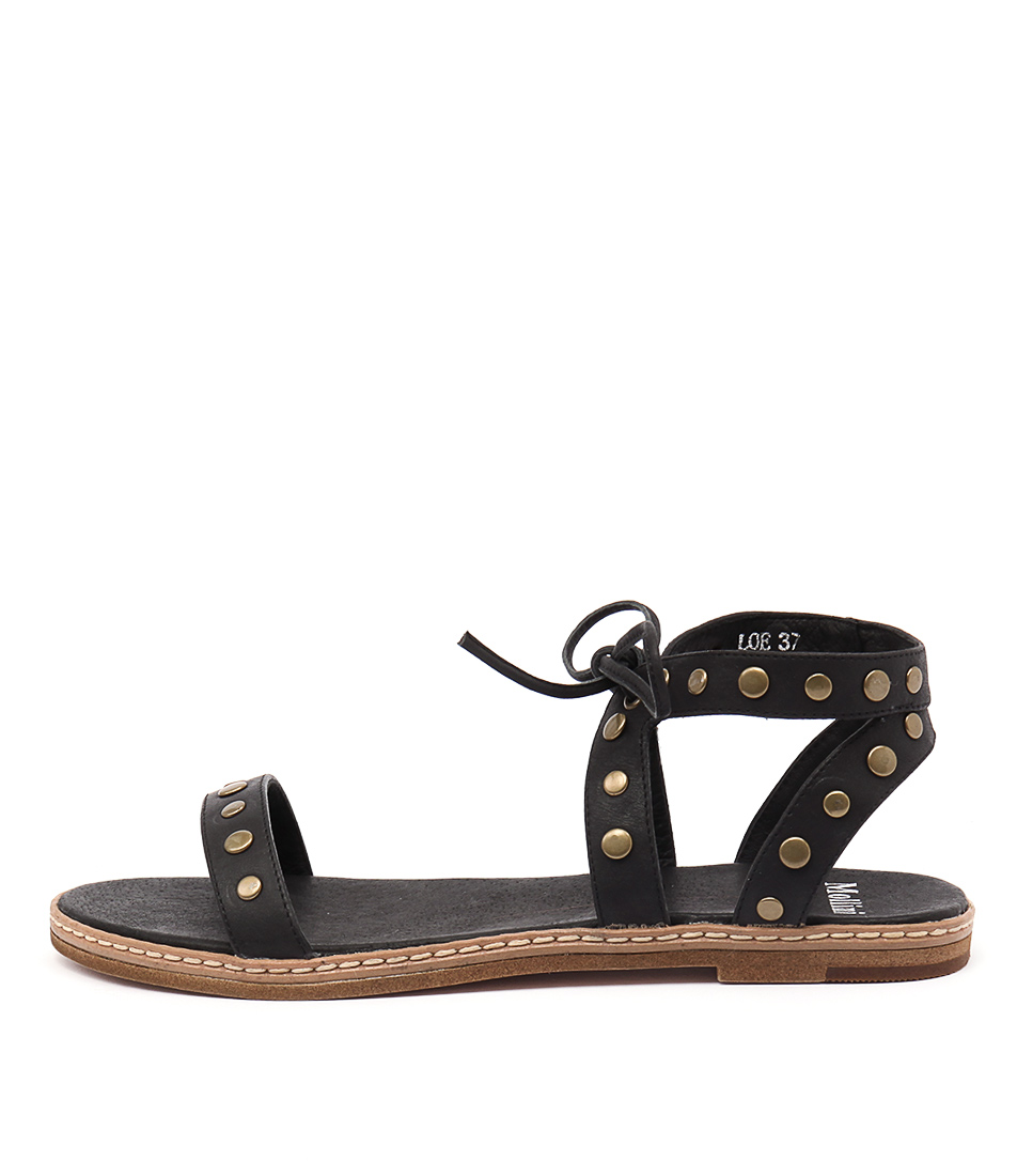 Mollini Loe Black Casual Flat Sandals buy  online