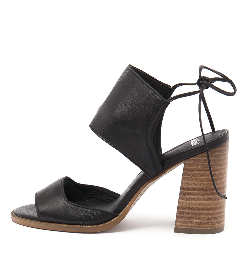 Mollini Mindy Black Natural Heel Sandals