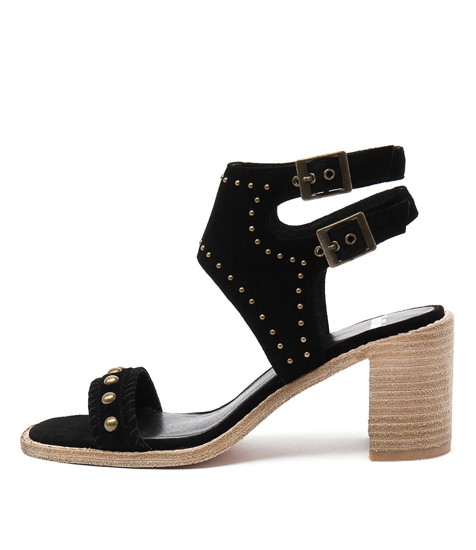 Mollini Deedee Black Natural Casual Heeled Sandals