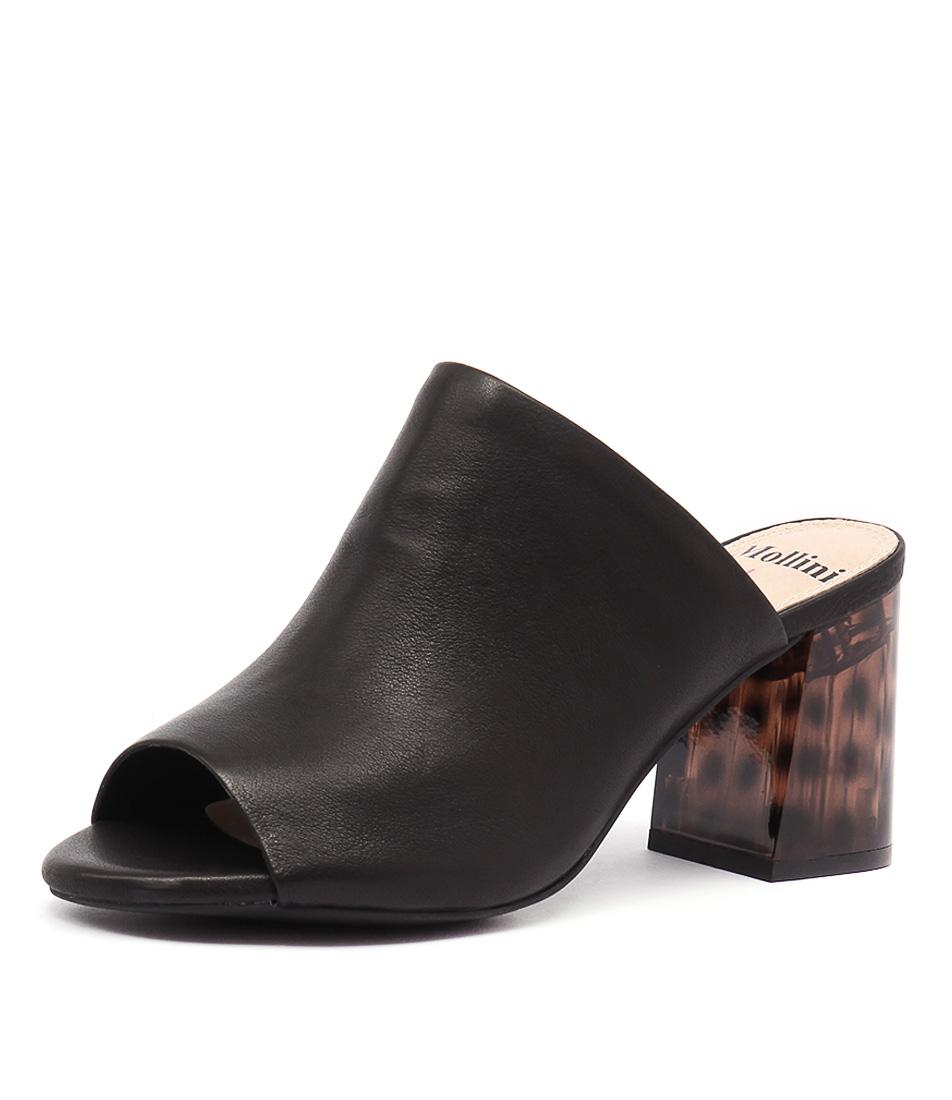 new mollini kerrie black tortoiseshell womens shoes dress