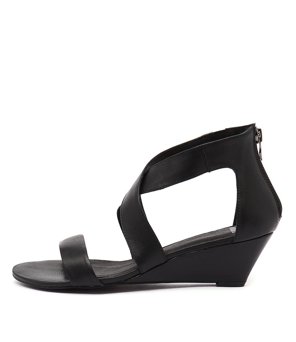 Mollini Mystar Black Casual Heeled Sandals