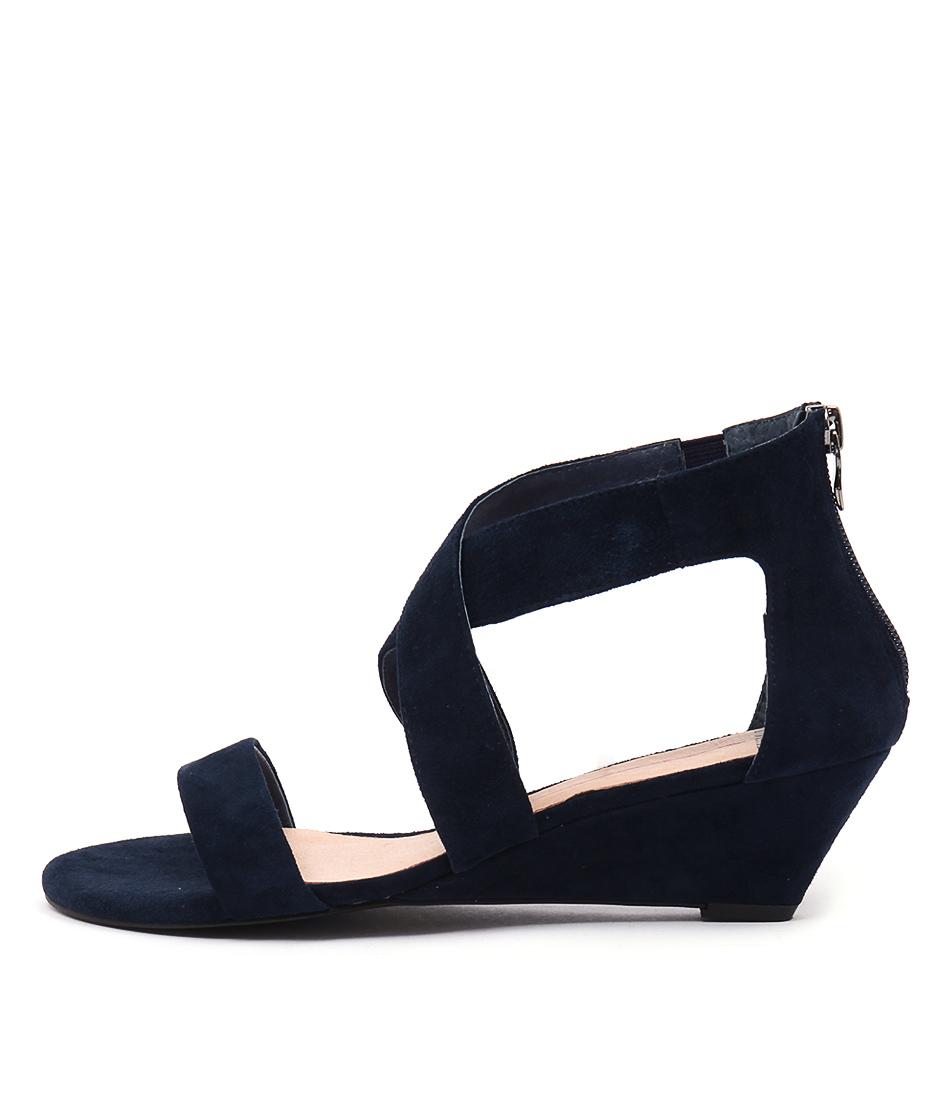 Mollini Mystar Navy Casual Heeled Sandals