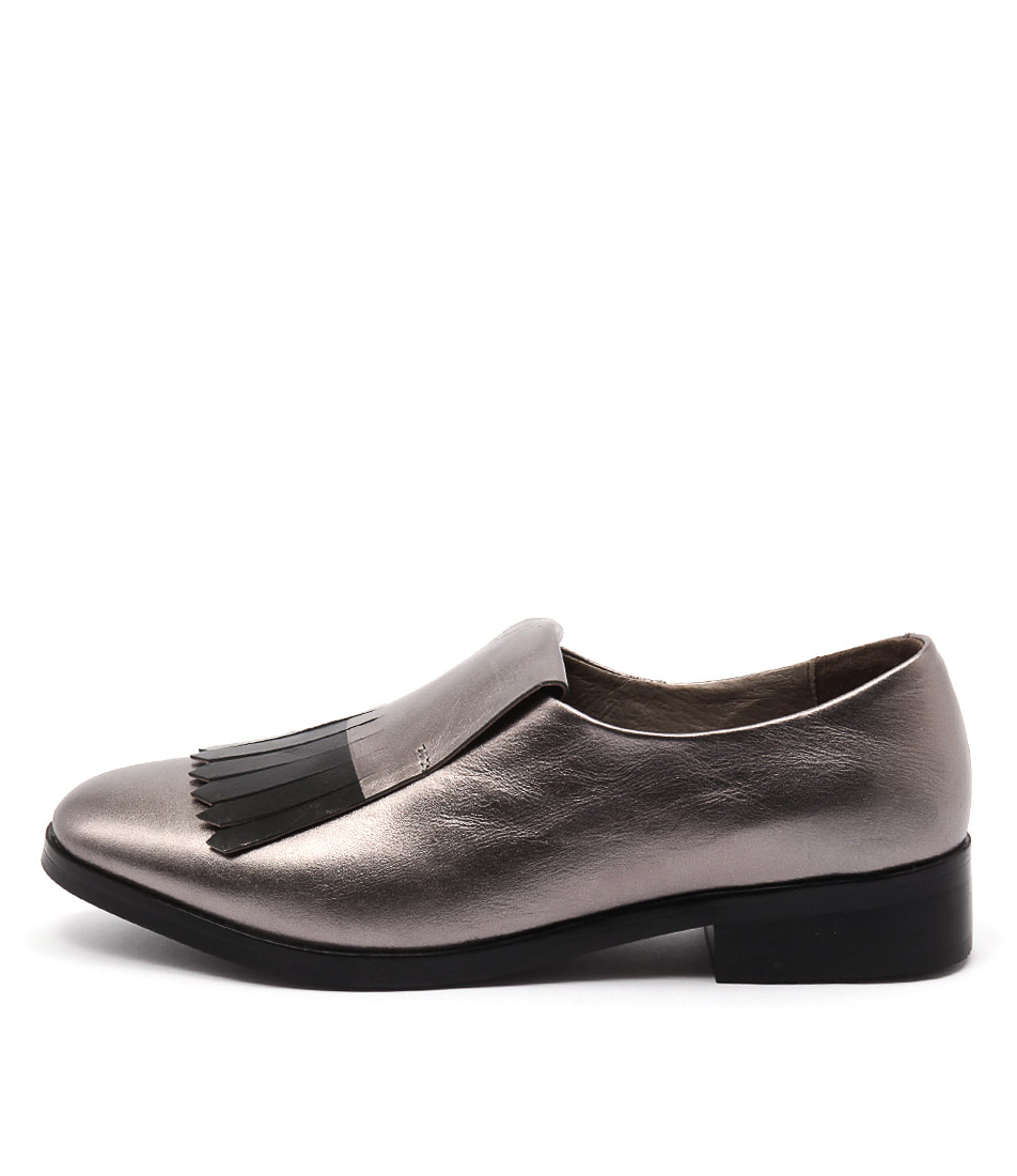 Photo of Mollini Devious Pewter Black Flats womens shoes