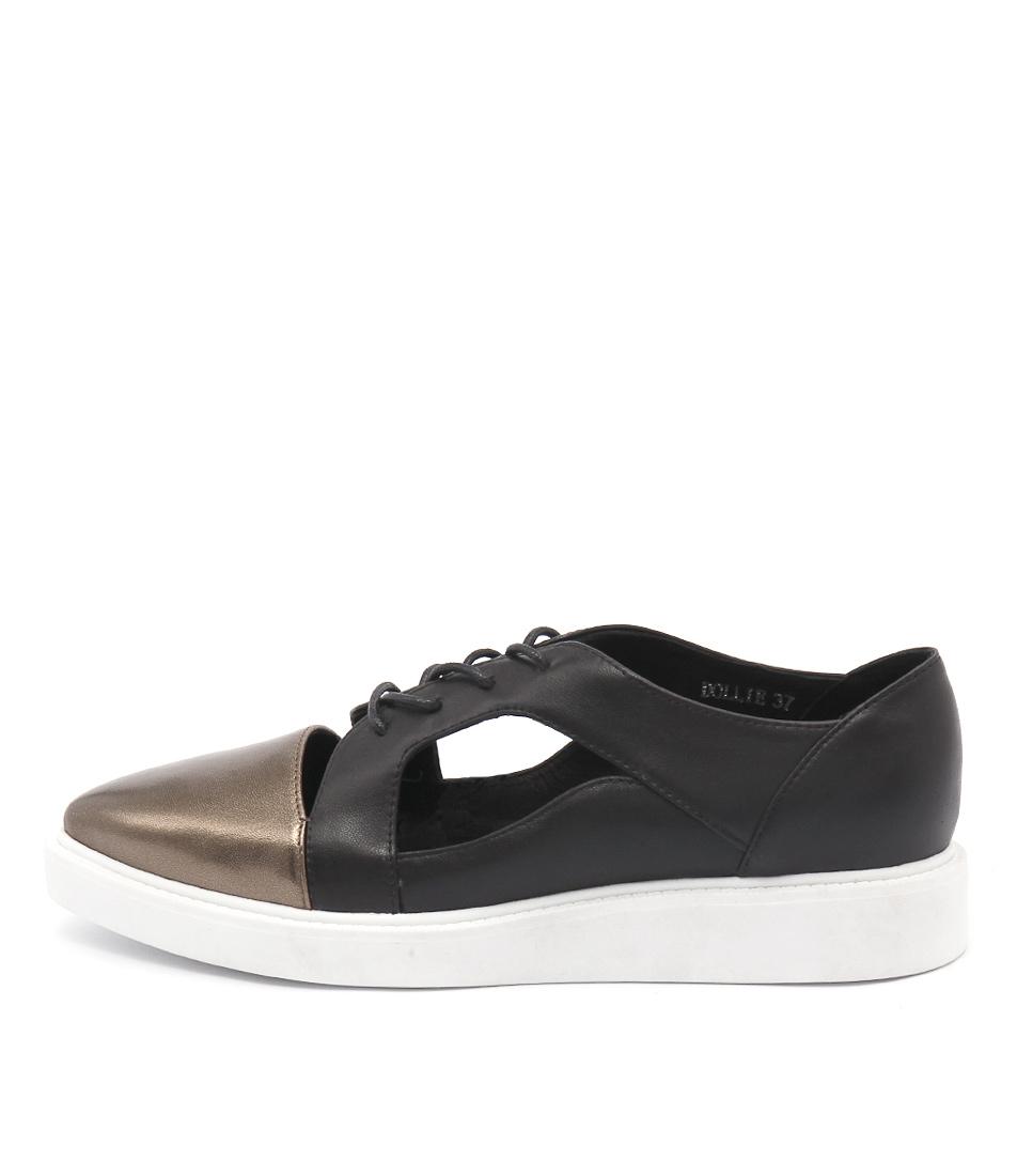Mollini Dollie Bronze Black Flat Shoes