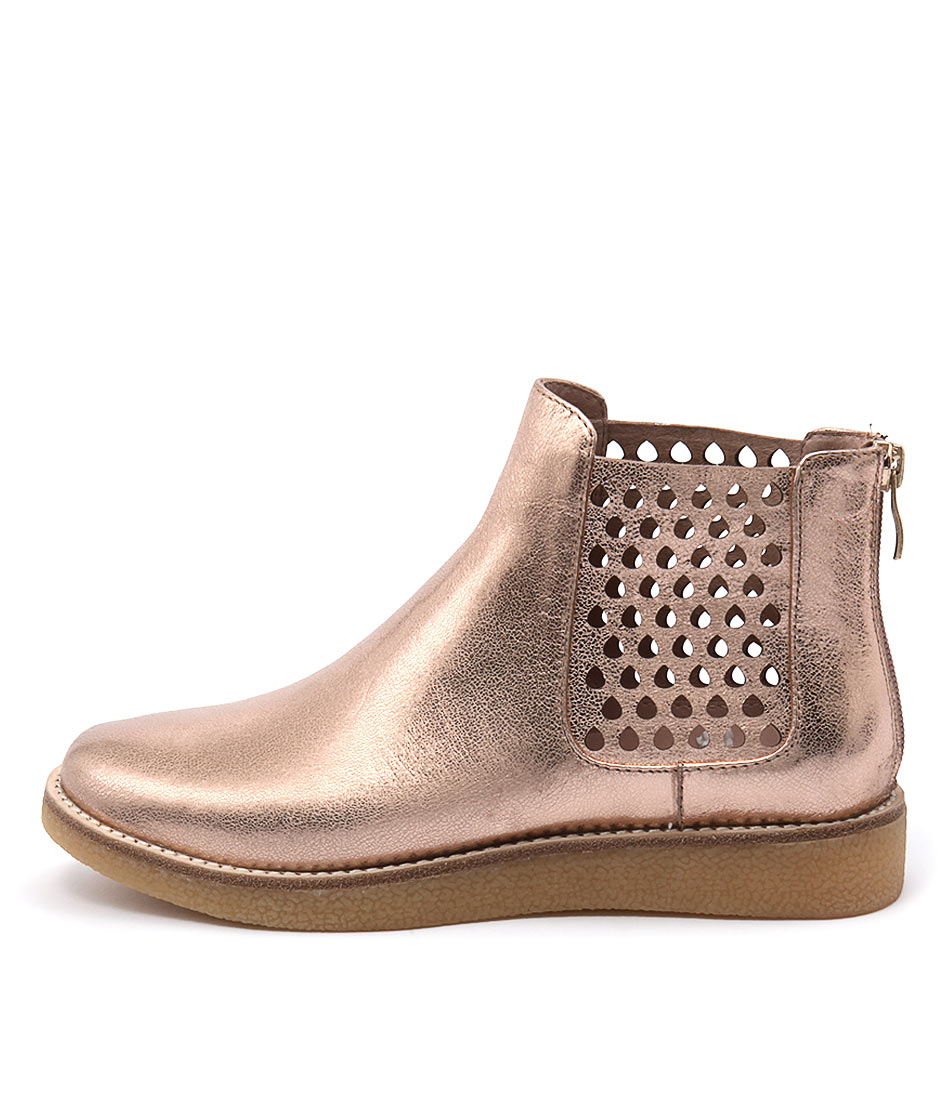Mollini Ellos Rose Gold Casual Ankle Boots buy  online