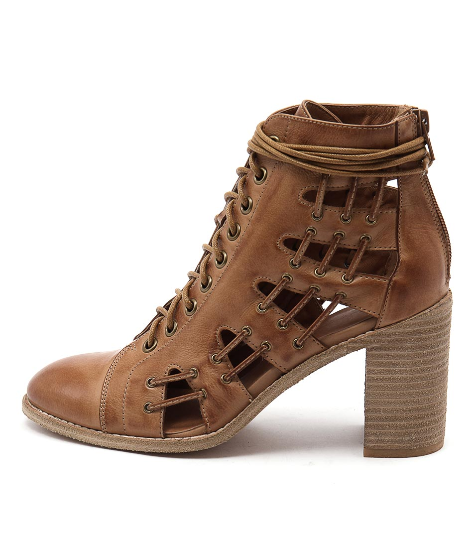 Mollini Gridees Dk Tan Ankle Boots