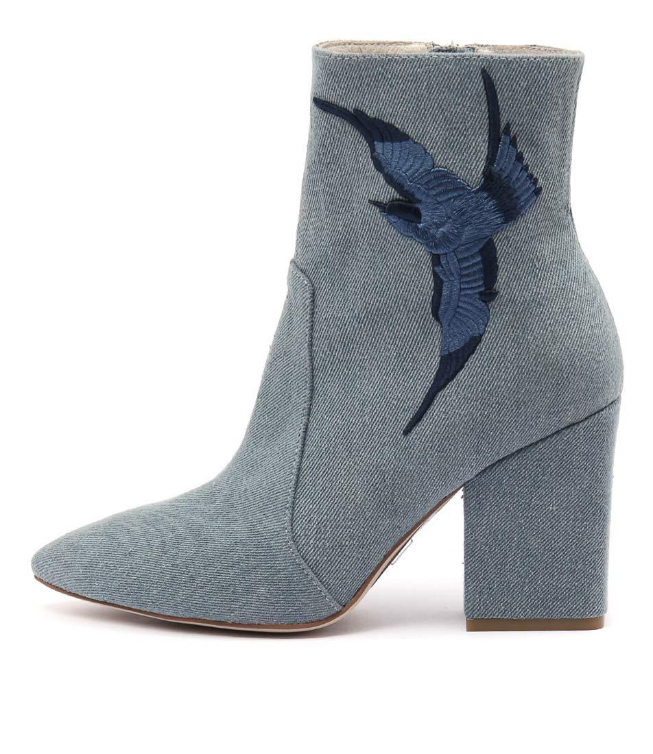 Mollini Marten Lt Blue Denim Casual Ankle Boots